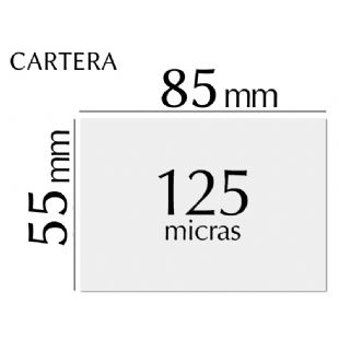Plastificado carnet (55 x 85 mm) 125 micras