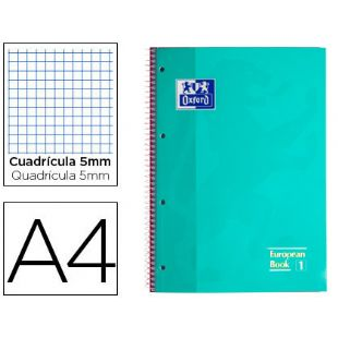 Libreta A4 micro. 5x5 ice mint 90 gr. OXFORD