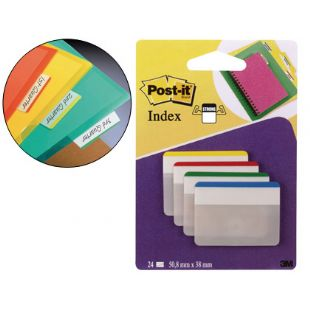 Banderitas rigidas 4 colores Post-it (24 unidades)